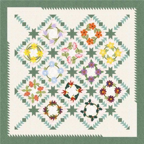 wreath of flowers quilt5
