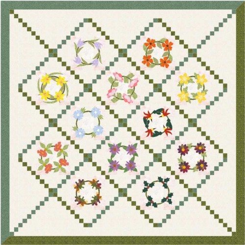 wreath of flowers quilt6